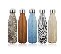 Wholesale 17oz Double Wall Vacuum Insulated Stainless Steel Water Bottle Creative gifts Perfect for Outdoor Sports Camping Hiking Cycling Picnic ZJ