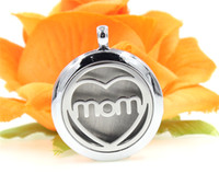 Lockets best feelings - Mom with heart Perfume Aromatherapy essential oil Diffuser Locket mm Floating locket Felt Pads randomly freely XX114 as best gifts