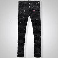 Men anchor buttons - Kmo new style Men s Jeans for D Classic Men s Fashion High Quality Iron Anchor Hole In Skinny Jeans Men