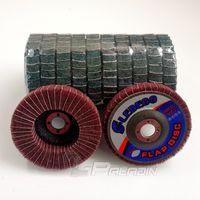 Wholesale 10 pieces mm Red Non woven Flap Abrasive Disc Fibre Combi Finishing Wheel Metal Polishing Disk