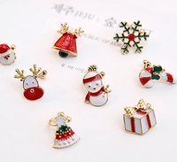 Wholesale The female buckle ear clip earrings ear christmas new year with a lovely Santa