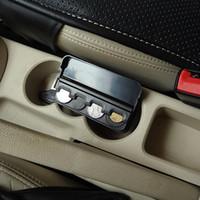 Wholesale New Car Styling Coin Storage Boxes Car Plastic Pocket Mini Black Car Coins Case Storage Box