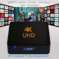 20pcs 4K UHD IPTV Mieux que MXQ A95X T95N QBox H.265 Vidéo Européen UK Quad Core IPTV + Android TV Box + Canaux 3in1