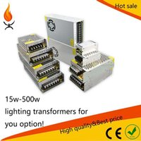 Wholesale LED lighting Transformers A W V Power Supply for Led strip advertising sources AC130 v to DC12V LED transformer