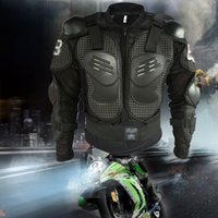 Wholesale New motorcycle body armor motocross armour motorcycle jackets with protective gear black size M XXXL10pcs Free DHL Fedex
