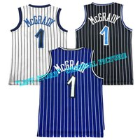 Wholesale Retro Men Tracy McGrady Jersey Stitched Throwback Tracy McGrady Embroidery Shirts blue black white Purple