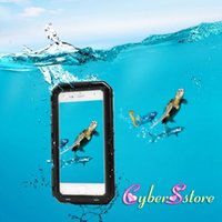 Plastic aluminum armor - For iphone Waterproof Case Metal Aluminum Armor Swimming Water Proof Cover For S Plus Shockproof Cover Seal IP Phone Bag