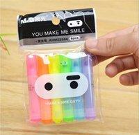Wholesale 6pcs Cute Kawaii Mini Highlighter Creative Lovely Cartoon Ninja Rabbit gel Pen for Kids Korean Stationery
