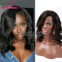 baby body products - Natural Wavy human hair lace front wigs baby hair greatremy factory outlet brazilian peruvian body wave virgin bella hair products
