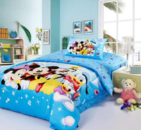 Wholesale Reactive dyes printe Bedding Mickey Minnie mouse Kids Bedding Set Children s Gift