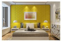 Wholesale Modern PVC D wall stickers wall brick pattern self adhesive wallpaper bedroom living room decorative waterproof anti collision Home decor