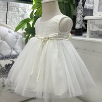 Wholesale Baby Girl Years Old One Year Birthday Party Formal Christening Dress Sleeveless