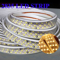 Advertisement SMD2835 Yes Waterproof Led light strips 2835 220v width 15mm 3 row 276Leds m 10m 20m 30m 40m 50m White Warm White + Power Supply