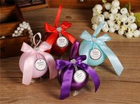 Wholesale Colorful Spherical Creative Wedding Favor Tin Candy Box For Wedding Candy Box For Gifts Wedding Favors Boxes