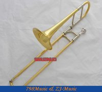 Wholesale Gold Lacquer Alto Trombone Eb horn Brand New With Case