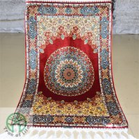 Wholesale 2 x3 oriental persian rug vintage handmade hand knotted silk floor carpet for Living room