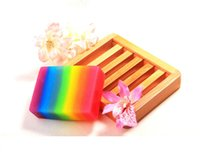 Wholesale CHEAPEST Cute Rainbow Soap Smell Goods White Plus Soap Gluta Whitening DHL OR SF EXPRESS Valentine s day gifts