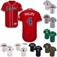 Wholesale Brandon Phillips Jersey Men s Atlanta Braves New Arrival Brandon Phillips Stitched Embroidery Logos Baseball Jerseys
