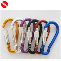 Wholesale shipping Free Screw lock hook clip carabinner colorful keychain handing clip secure lock carabiner