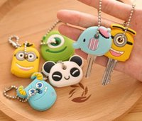 antique phone booth - The new booth adorable cute cartoon Korean Keychain Key chain key buckle set set of portable mobile phone chain