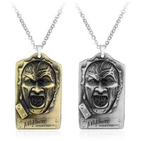 american elm - New Products movie Nightmare on Elm Street Freddy A peddler Mask Alloy Metal Pendant Necklace Colors For Men
