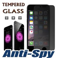 DHS008 apple privacy - 9H Hardness Premium Privacy Shield Anti Spy Real Tempered Glass Screen Protector Film Protective Guard for iPhone Plus S S S