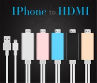 Wholesale 2M High Speed Aluminum HDMI HDTV AV Cable For iPhone S SE S Plus ipad Support HD P