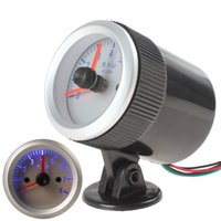 Wholesale 2 quot mm RPM Blue Light Tachometer Tach Gauge with Holder Cup for Auto Car Silver CEC_510