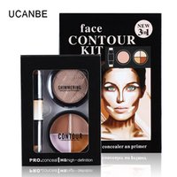 Wholesale Makeup Double End Creamy Concealer Stick Shimmering Bronzing Powder Colors Contour Highlight Palette in Face Contour Kit