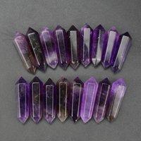15 pcsset 30x8x6mm amethyst points doubles crystal healing reiki TRAVAIL DE Bricolage