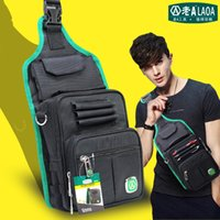 Wholesale New LAOA Multifunction Messenger Bag Cross Body Electrician Hardware Mechanic s Canvas Tool Bags For Store Tools