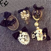 Wholesale Fashion brooches retro exaggerated personality lace bow brooch