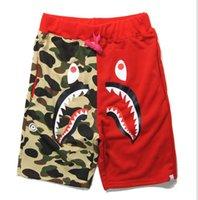 Wholesale Summer New Mens wom Sportswear Pants Jogger Tracksuit causel Crewneck Bird OVO Drake Black Hip Hop stusay Men Shark mouth patchwork trousers