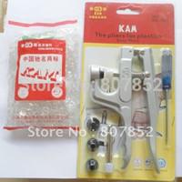 Wholesale DHL sets Clear Kam T Size Plastic Resin Snaps Buttons transparent for cloth diaper pc Pliers DK001 Tool Kits