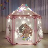Wholesale The princess hexagonal tent Gauze baby children tent game room The princess children tent dollhouse