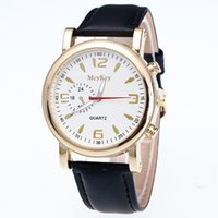 battery terms - New Leather Quartz Watches High end personality Men s Business Watches Classic style Long term stock Wristwatches colors