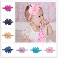 Wholesale Best Match Infant Bow Headbands Girl Flower Headband Children Hair Accessories Newborn Bowknot Hairbands Baby Photography Props colors