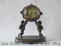 antique clocks and watches - Exquisite Chinese ancient copper mechanical clock timer two boys angel watches and clock