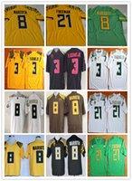 adams black - Cheap Sale American College Marcus Mariota Jerseys Oregon Ducks Football Rugby Freeman Adams Jr Green Black Yellow White Stitched