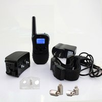 Wholesale 300 meters wireless remote control charging dog traing collar barking device lcd display shock and vibrationWaterproof