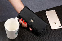 Wallets Women Credit Card New women long style pure color wallet female purse fashion clutch bag black pink light grey dark grey no38