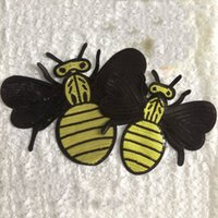bee patch - 20pcs Bee Sequin Patch For Clothing Glitter Patches parches ropa Embroidered Jean Jacket Fabric Patchwork Garment Apparel Badge Appliques