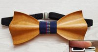 Wholesale Wooden bow tie marriage performance of wood real wood fashionable tie neckties neutral both men and women can be customized