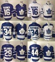 Wholesale 2016 Mens Toronto Maple Leafs Mitch Marner Auston Matthews William Nylander Morgan Rielly Ice Hockey Jerseys