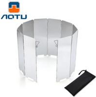 aluminum wind deflector - AOTU Plates Outdoor Aluminum Portable Foldable Stove Cooker Camping Picnic Windshield Winderscreen Wind Deflector