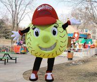 baseball mascot - softball mascot costume for adult high quality Tennis Ball Tenis Ball Baseball Softball Soft ball Baseball theme carnival fancy dress LLFA