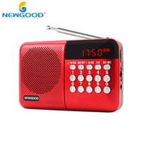 Wholesale Universal Stereo Radio Mini Portable Radio TF USB MP3 Speaker FM Radio Digital Speaker with LED Screen Support TF Card Read