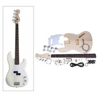 Wholesale String Electric Bass DIY Kit Set Solid Basswood Body Maple Neck Rosewood Fingerboard JAZZ Bass Style