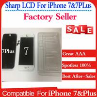 Écran lcd noir Prix-Sharp LCD pour AAA iPhone 7 4.7 LCD écran tactile affichage numériseur et cadres Remplacement complet de l'Assemblée Black White iPhone7 Plus lcd