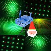 Wholesale Mini Laser Light Red Green Party Stage LED Lights Disco DJ KTV Dance Lighting With Tripod Portable Project Lamp Floor Light